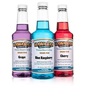 Hawaiian Shaved Ice Snow Cone Syrup 3 Ct