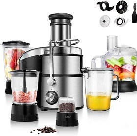 COSTWAY Electric 5-in-1 Juicer Blender Combo