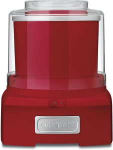 Cuisinart ICE21R Frozen Yogurt Automatic Ice Cream and Sorbet Maker,120 V, best frozen drink machines Thermoplastic, Red