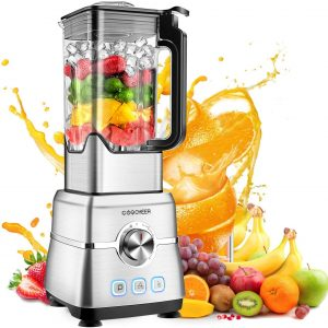 Blender Smoothie Maker, COOCHEER 1800W Blender for Shakes and Smoothies with High-Speed Professional Stainless Countertop