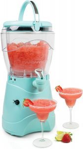 Nostalgia Margarita & Slush Machine, Makes 1 Gallon of Drinks, Easy-Flow Spout, With Carry Handle, Aqua