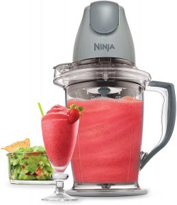 Ninja 400-Watt Blender Food Processor for Frozen Blending, Chopping and Food Prep with 48-Ounce Pitcher and 16-Ounce Chopper Bowl, Silver