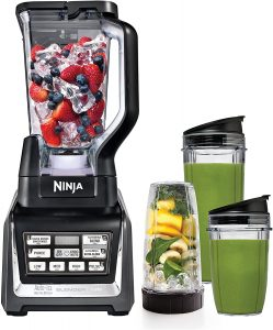 Nutri Ninja Personal and Countertop Blender with 1200-Watt Auto-iQ Base, 72-Ounce Pitcher, and 18, 24, and 32-Ounce Cups with Spout Lids